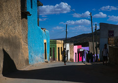 Multicolored houses in the old town, Harari region, Harar, Ethiopia (Eric Lafforgue) Tags: africa street travel people house color building men heritage home horizontal wall architecture outdoors photography town ancient women colorful day islam vivid unescoworldheritagesite journey colored ethiopia multicolored oldtown groupofpeople tranquil multicolor hornofafrica harrar eastafrica vibrantcolor harar abyssinia famousplace ruralscene buildingexterior fulllenght harari oromo traveldestination harer builtstructure harariregion hararjugol harergeprovince harergey ethio162931