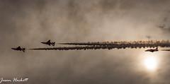 Red Arrows (jason hackett) Tags: sunset red sky smoke planes arrows stunts avation