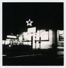 Astro Burger 2 (tobysx70) Tags: california ca door light toby 2 bw test food white black film sign night project french polaroid sx70 photography for restaurant la los neon nocturnal angeles burger fast astro illuminated tip fries cameras melrose 600 hollywood hamburger type and 20 rollers hancock avenue slr680 generation impossible the gen2 0814 testfilm frankenroid impossaroid