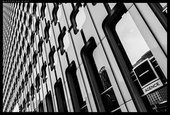 Architecture (mripp) Tags: city urban white abstract black paris france building art architecture mono la frankreich pattern kunst stadt monochrom defense regular
