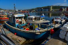 Fishing vessels in Swansea Bay (Dafydd Penguin) Tags: sun fish swansea port marina bay harbor boat fishing dock nikon ship harbour lock vessel calm mooring towie 20mm af nikkor f28 barrage d600