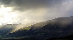 it's clearing up (Simple_Sight) Tags: sun mountains rain weather berge sonne regen wetter