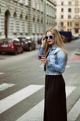 Street, blonde and wine (marekkolak) Tags: road street city cars sunglasses fashion czech wine style clothes brno blonde styling
