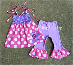 pinkie pie (Lil' Bug Clothing) Tags: pink little top pony and smocked capris my