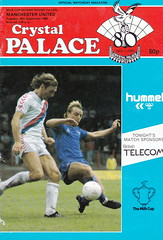 Crystal Palace vs Manchester United - 1986 - Cover Page (The Sky Strikers) Tags: road park cup magazine manchester milk official crystal united palace to british eagles telecom hummel wembley programme 50p matchday selhurst