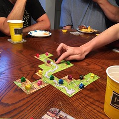 Gaming night. #carcassonne #boardgame #winning (iamwildunknown) Tags: camera project 365