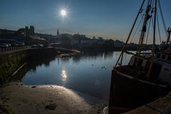 Evening sun.......... (A A A A Dafydd Penguin) Tags: ireland light sea urban sun water port evening harbor boat town fishing dock nikon harbour tide low vessel coastal 20mm af nikkor northern d600 ardglass f28d