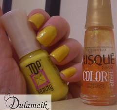 Desafio das 31 Unhas: 3 - Unhas Amarelas (Dulamaik) Tags: laranja amarelo risqu desafio repetido flocado topbeauty