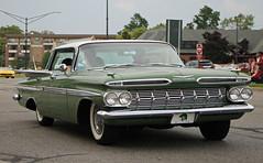 1959 Chevrolet Impala (RudeDude2140a) Tags: green classic chevrolet car sedan impala 1959