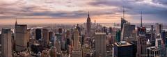 New York in Cinemascope II (Antoni Figueras) Tags: sunset panorama newyork manhattan empire empirestatebuilding rockefeller metlife topoftherock cz1680 sonya77ii