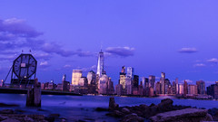 A evening (Srikanta. H. U) Tags: nyc man clock water factory manhattan front wtc colgate frount colget