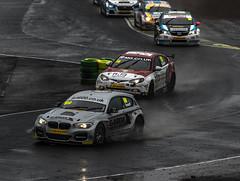 Lead battle (Blaydon52C) Tags: auto cars ford wet car rain race reflections drive yorkshire 4 north racing mg croft bmw formula darlington motor circuit fia drivers racer motorsport btcc autosport