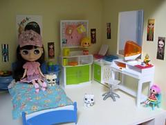 Colette in her bedroom