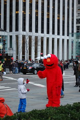 Friendly Elmo 2/3 (koborin) Tags: plaza new york nyc newyorkcity travel red ny newyork army manhattan elmo grand friendly