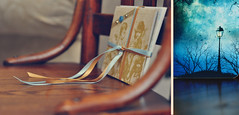 (oneworldmj) Tags: wood thanks paper chair friend diptych gift surprise ribbon snailmail withgratitude handmadecardstheyareamazing