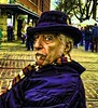 The Poet (Alexander Kenton) Tags: park street blue usa newyork man hat fashion lensbaby canon reflections portland beard education nikon downtown waterfront painted poet professor lecture oldtown scientist