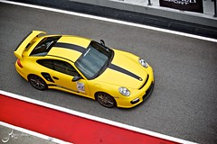 Porsche GT2 (mohdmursi) Tags: yellow track stuttgart fast porsche overhead matte sepang gt2 997 megalap exoticmods