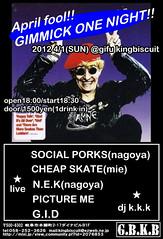 "N.E.K. @ ""April fool!!GIMMICK ONE NIGHT!!"" at  Gifu King Biscuit - Gifu Grind Hell 2012.04.01(Sun) (Misoshiru of Death) Tags: show punk live thrash gifu pictureme gid crossover nek aprilfool grindcore cheapskate kingbiscuit ninosenkombate gimmickonenight socialporks"