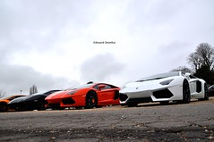 Which one would you pick ? Orange for me please ;) (ZellusCars) Tags: mars paris coffee march lp lamborghini rare 2012 combo x3 7004 aventador soundcars