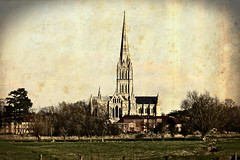 Cathedral of Saint Mary (Time Grabber) Tags: england building church vintage cathedral historic spire salisbury vignette wfc 4a timegrabber