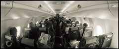 Cabin Fever (heritagefutures) Tags: canada de cabin aircraft flight sydney 8 passengers dash seats link widelux qantas travle communications airliner albury qantaslink havilland dhc8100 f6b vhsbw qf2209