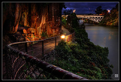 Path to Kings Bridge (darreng2011) Tags: bridge light water fence rocks path tasmania kingsbridge railing launceston cataractgorge greatphotographers