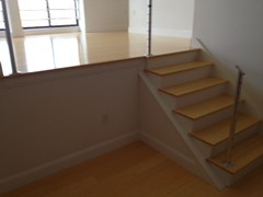 Bamboo flooring finished with Bona Woodline , staircase built by Robinson Flooring