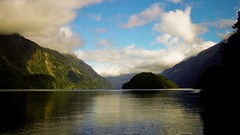 Doubtful Sound (Timothy Hunter) Tags: newzealand mountains reflection nature water clouds contrast landscape scenery samsung nz lordoftherings fiord doubtfulsound middleearth fiordlands