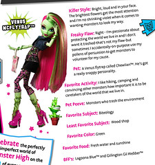 Venus bio preview (Veni Vidi Dolli) Tags: dolls mattel monsterhigh venusmcflytrap