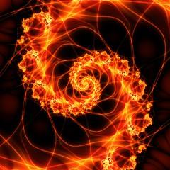 Fire Spiral (Melanie Mertens) Tags: abstract art spiral spirals abstractart fractal fractals ultrafractal firefractal firespirals fractalspirals firespiral firefractals