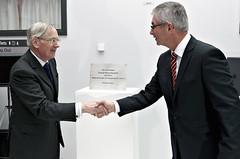 HRH the Duke of Gloucester with Walsall Healthcare NHS Trust Chair Ben Reid, February 2012 (Voices Through Corridors) Tags: 2010s