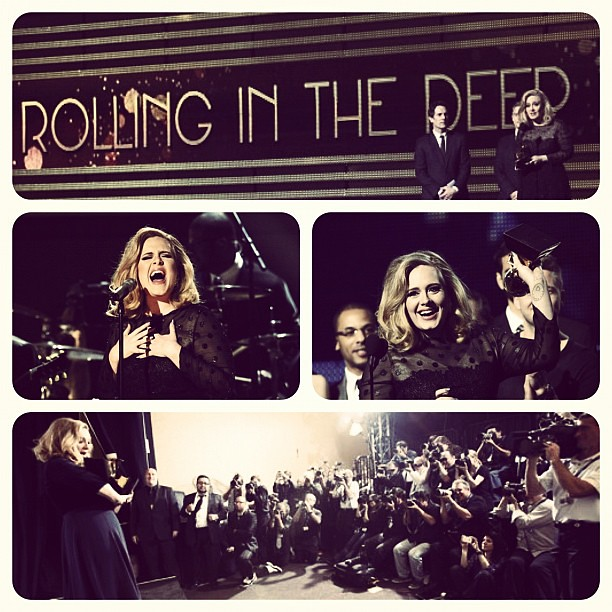 ADELE at Grammy awards #grammy #winner #6 #rollininthedeep