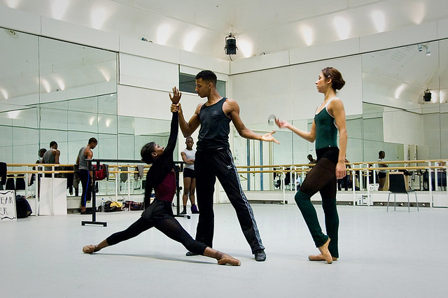 Ballet Black in rehearsals for Storyville © Zarina Holmes & The Ballet Bag/ROH 2012