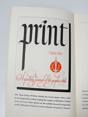 Lettering for Print magazine by William Metzig. May-June 1941 issue. (Herb Lubalin Study Center) Tags: 1940s lettering printmagazine designpaper williammetzig