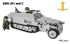 Sd.Kfz 251/1 ausf C WWII LEGO (MR. Jens) Tags: world two germany 1 war lego c wwii german ww2 division 20th 251 sdkfz panzergrenadier ausf sonderkraftfahrzeug