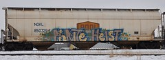 Phrite/Heist (LadyBench) Tags: train graffiti winnipeg rail freight phrite heist fr8 benching