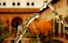 Time stops in Alhambra (aoiharu) Tags: water fountain frozen spain alhambra granada waterdrops highspeed