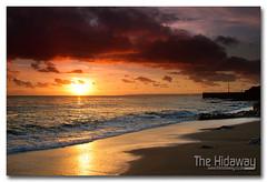 Porthleven sunset - Explore #347  20/02/12 (Simon Bone Photography) Tags: sea sky cloud sun reflection beach silhouette sand cornwall cornishcoast cornishsunsets wwwthehidawaycouk canoneos7d canonef24105mmlf4 hitechnd09reversegrad