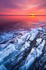 Razor Backs (Shawn Thompson - Lake Superior Photographer) Tags: pink reflection ice sunrise frozen purple icy shattered lakesuperior shards southshore parkpoint canalpark minnesotapoint mnpoint
