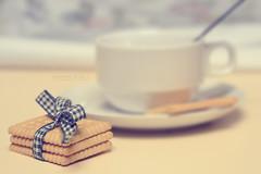 Biscuits and milk [52/366]  [ E X P L O R E ! ] (Simonesta~) Tags: coffee milk biscuit latte caff biscotti