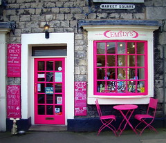 Emily's at Kirkby Lonsdale in Cumbria (Tony Worrall) Tags: door pink england building window shop cafe village district north entrance eat seats cumbria buy portal local sell quaint shopfront emilys marketsquare westmorland cumbrian kirkbylonsdale riverlune southlakeland urnag ©2012tonyworrall emilysteashop