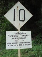 Thailand - Burma Railway - Kra Sae trestle (railasia) Tags: sign thailand infra nineties kanchanaburi srt krasae burmarailway wangpho