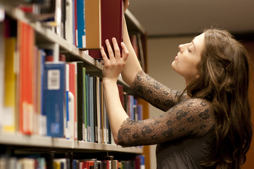 Researching in the Library by Steve Goodyear, on Flickr