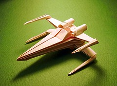 X-Wing Fighter origami Easy version (Matayado-titi) Tags: starwars origami fighter xwing spaceship starship sugamata matayado