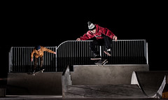 Churchdown Park (Cherryrig) Tags: night nikon skateboarding wizard flash skate pocket fx t2 pw sb800 70200mmf28gvr pocketwizard churchdown qflash d700 cherryrig