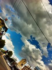 Big Sky Richmond (BattysGambit) Tags: street blue summer sky australia melbourne victoria richmond arcitecture scape hdri 2012 iphone iphone4