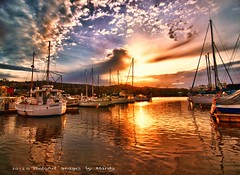 boats @ sunset (PhotoArt Images) Tags: sunset boats australia explore hdr stunningskies photoartimages