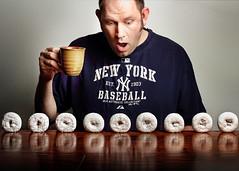 So Many Donuts (Chris Kryzanek) Tags: coffee nine donuts yankees strobist kryzanek