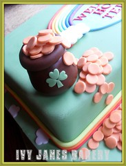 WELCOME HOME (Ivy Jane's Bakery) Tags: irish cake rainbow stpatricksday welcomehome potofgold