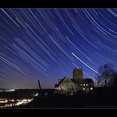 2 planets and lots of stars over Neipperg Castle (hgviola ) Tags: castle night germany stars deutschland evening abend vineyard nikon venus nacht wideangle tokina alemania jupiter romanesque nuit allemagne notte castillo tarde malam burg bintang startrails wein weinberg etoiles sterne sore weitwinkel jerman badenwrttemberg romanisch d80 neipperg sternspuren 1116mm starstax hgviola
